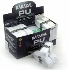 24 x Karakal Super PU Replacement Grips - Tennis - Squash - Badminton - White