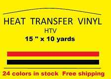 "Heat Transfer vinyl silver 15 "" x 10 yards   HTV  t shirt"