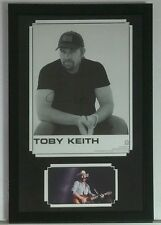 Toby Keith Autographed Signed 8x10 Framed 12x18 Beer for my Horses JSA