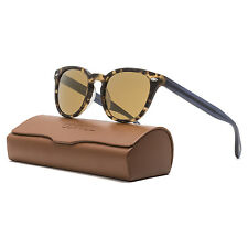 Oliver Peoples Sheldrake Plus Sunglasses Matte Tortoise Brown Blue / Gold Mirror
