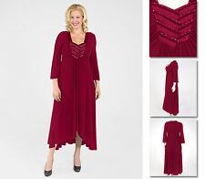 NEW Zaftique SATIN INTERLACED Dress GARNET Red 2Z 6Z / 20 24 28 2X 3X 4X 5X 6X