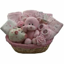Adorable baby gift basket/hamper 4 pce clothes set girl baby shower nappy cake