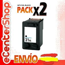 2 Cartuchos Tinta Negra / Negro HP 21XL Reman HP Deskjet F2100 Series