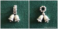 NEW Authentic Pandora Sterling Silver Silver Bells Dangle Charm S925 ALE 791230