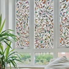 Leaf Static Cling Stained Glass Window Film Window Home Decoration 45x100cm