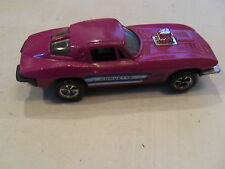 RARE vintage TOOTSIE TOY 1963 CHEVY CORVETTE PURPLE DIECAST car FREE SHIPPING