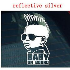 Super Cool HIP HOP baby on board / Carlos Hangover funny car vinyl sticker decal