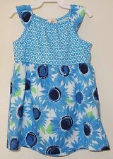 NWT Hanna Andersson Blue Sunflower Dress Girl's Size 70 / 5-12M