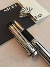 RARE VINTAGE WATERMAN LE MAN 200 SILVER NIGHT & DAY FOUNTAIN PEN-SUPERB
