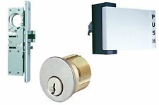 Premium Push/ Pull Paddle Handle With Mortise Cylinder And Lock Body