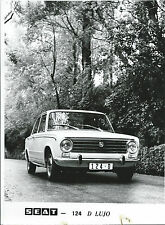 Seat Fiat 124 D Lujo Original Press Photograph