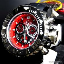 Invicta Sea Hunter III Red 70mm Full Sized Rubber Swiss Chronograph Watch New