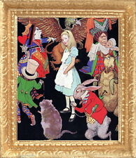 ALICE IN WONDERLAND Framed Miniature Dollhouse Picture - MADE IN AMERICA