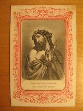 Altes Gnadenbild Stahlstich Jesus ~1850 Andachtsbild L. Turgis j. Paris