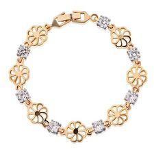 Charming Promising chain 18K gold filled Swarovski crystal bracelet jewelry