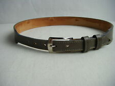 """Tony Lama"" Grey Green Leather Men Belt-Waist 29 to 31"""