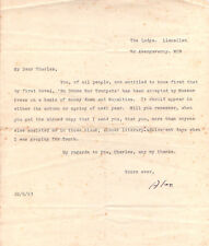 ALEXANDER CORDELL TYPED & SIGNED LETTER 22 May 1953 BEFORE FIRST BOOK PUBLISHED