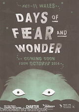 Event Promo Flyer: Sci-Fi Wales - Days Of Fear And Wonder: Cinema Tour 2014