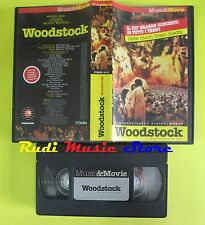 VHS WOODSTOCK JOE COCKER JOAN BAEZ WHO JANIS JOPLIN MUSIC MOVIE no dvd cd (VM9)*