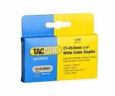 TACWISE CT45 8mm CABLE TACKER STAPLES, 1,000 PER BOX, FITS MOST CABLE TACKERS