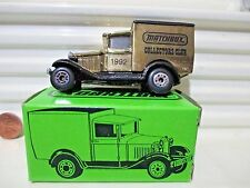MATCHBOX Collectors Club 1992 BRASS PLATED MB38 Model A Ford Van #306 Mint Boxed