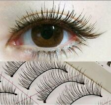 10Pairs Popular Long Cross False Eyelashes Makeup Natural Fake Thick Eye Lashes