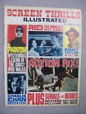 SCREEN THRILLS ILLUSTRATED MAGAZINE OCTOBER 1963 SERIALS HEROES CHARLIE CHAN