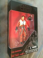"Poe Dameron Figure Star Wars Black Series 3.75"" The Force Awakens Walmart Ex"