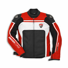 Ducati Corse Motorcycle Leather Jacket Red & White ***BLACK FRIDAY SALE**