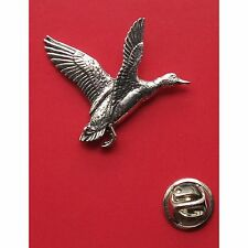 English Pewter MALLARD Duck Bird Pin Badge Tie Pin / Lapel Badge (XTSBPB12)