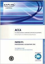 ACCA P1 Professional Accountant PA: Complete Text: Paper P1 by Kaplan...