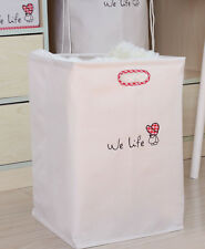Laundry Hamper Barrel Bag Foldable Washing Clothes Carrier Water Resist WE12-298