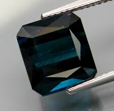 6.36ct top blue color natural earth mined Indicolite Tourmaline Mozambique gem
