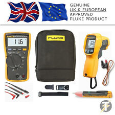 Fluke 116 True RMS HVAC Multimeter + 62 MAX-PLUS Thermal Reader + 1AC + TPAK
