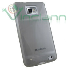 Pellicola+custodia JELLY Nero Fumè per Samsung Galaxy S2 i9100 Plus i9105 TPU