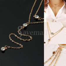 Fashion Charm Jewelry Crystal Choker Chunky Statement Bib Chain Pendant Necklace