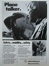 9/1981 PUB MOTOROLA COMMUNICATIONS AN/ARC-188 WIRELESS INTERCOM US AIR FORCE AD