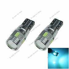 2X Ice Blue 6 LED 5630 T10 W5W Lens Canbus Error Free Light Car Bulb Lamp A130
