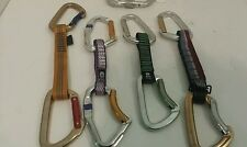 CARABINERS QUICK-DRAWS LOT 4 QUICKDRAWS AND 1 SMC CARABINER ISO LOCKING STANDARD