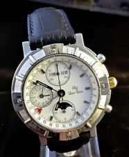 LUCIEN ROCHAT VINTAGE AUTOMATIC CHRONOGRAPH COMPLETE CALENDAR MOONPHASES