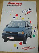 Fischer Autocaravana Autocaravana FOLLETO 1992 texto alemán