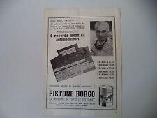 advertising Pubblicità 1948 PISTONE BORGO e PIERO TARUFFI
