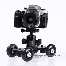 Top Table Dolly Mini Car Skater Track Slider For DSLR Camera Video Film Black