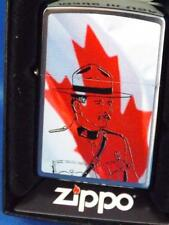 ROYAL CANADIAN MOUNTIES CANADA FLAG ZIPPO LIGHTER MOUNTED POLICE RCMP GIFT BOX