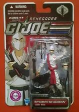 GI Joe Renegades Storm Shadow Cobra Ninja 30th New on Card Free Shipping