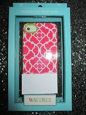 NEW Waverly iPhone 5/5S Hard SNAP Case Cover Single Piece Pink White