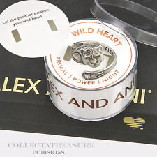 Authentic Alex and Ani Wild Heart Sterling Silver Plated SPOON RING