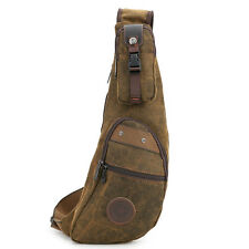 New Men Canvas Travel Hiking Bike Messenger Shoulder Sling Chest Back  pack Bag