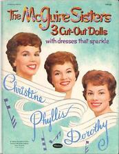 VINTAGE UNCUT 1959 MCGUIRE SISTERS PAPER DOLLS LASER REPRODUCTION~NO.1 SELR