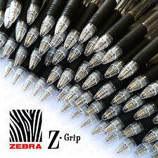 40 X Zebra Z-Grip Z Grip retráctil Bolígrafos Tinta Negra